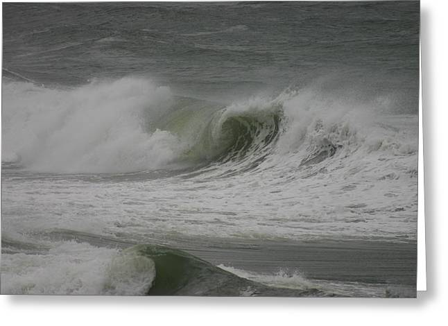 Hurricane Earl Double Wave Greeting Card by Kimberly Klein