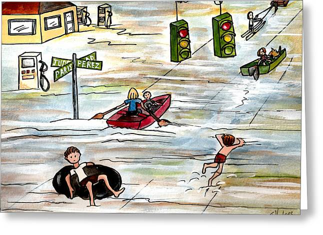 Hurricane Evacuation Route Greeting Card