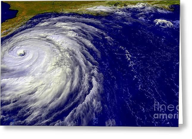 Hurricane Floyd   Greeting Card by Jon Neidert