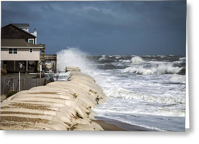 Hurricane Joaquin Greeting Card by Karen Wiles