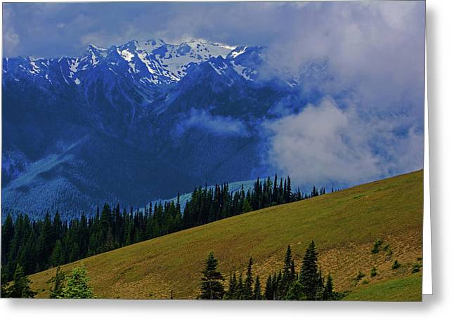 Hurricane Ridge Greeting Card by Tikvah's Hope