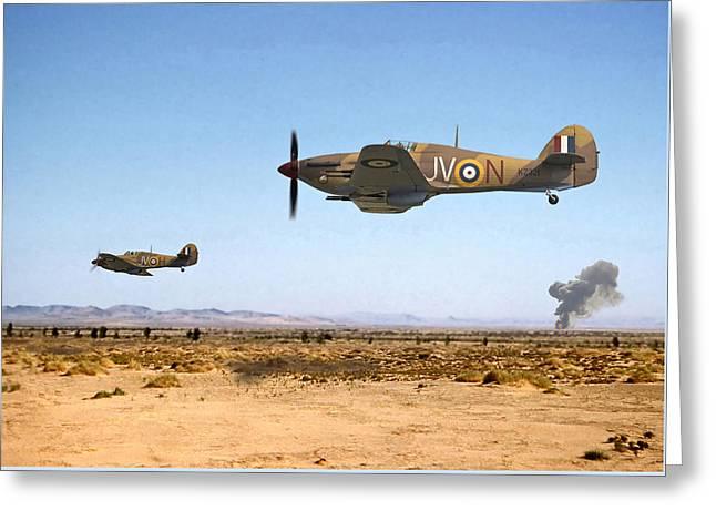 Hurricane - Tank Busters Greeting Card