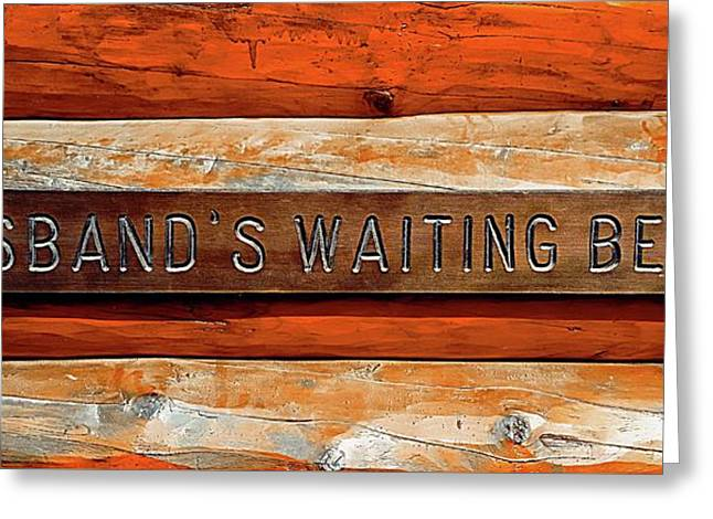 Husband's Waiting Bench - Denali National Park Greeting Card