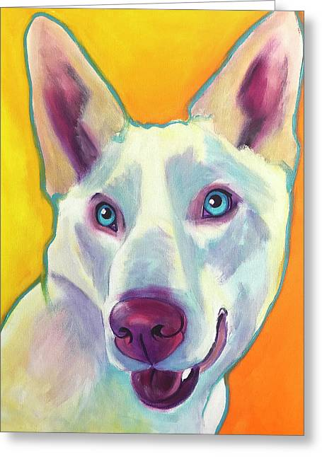 Husky - Charlie Greeting Card