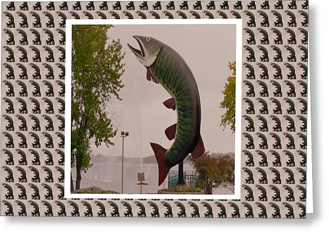 Husky The Muskie Kenora Ontario  Roadside Attractions Photography Artistic Graphic Digital Touch  Greeting Card