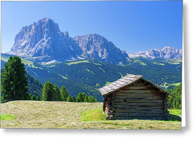 Hut In Mountain Landscape Greeting Card by Ioan Panaite