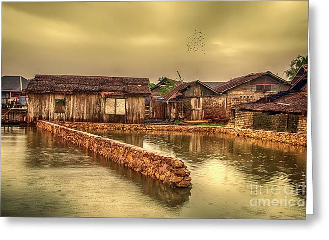 Greeting Card featuring the photograph Huts 2 by Charuhas Images