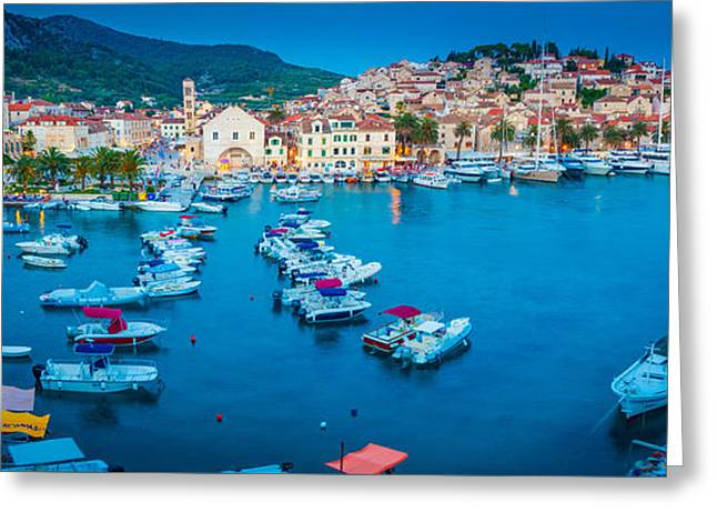 Hvar Panorama Greeting Card by Inge Johnsson