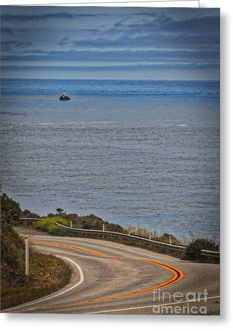 Hwy 1 Greeting Card by Mitch Shindelbower