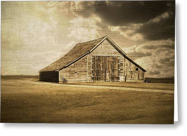 Hwy 9 Barn Greeting Card by Julie Hamilton