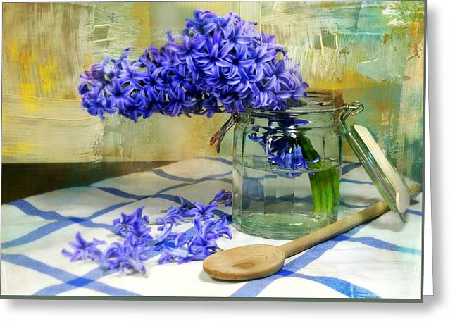 Hyacinth Greeting Card by Diana Angstadt