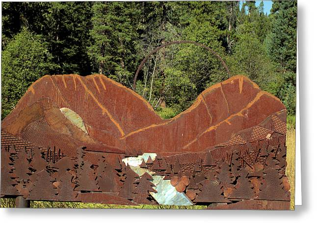 Hyalite Canyon Sculpture Greeting Card