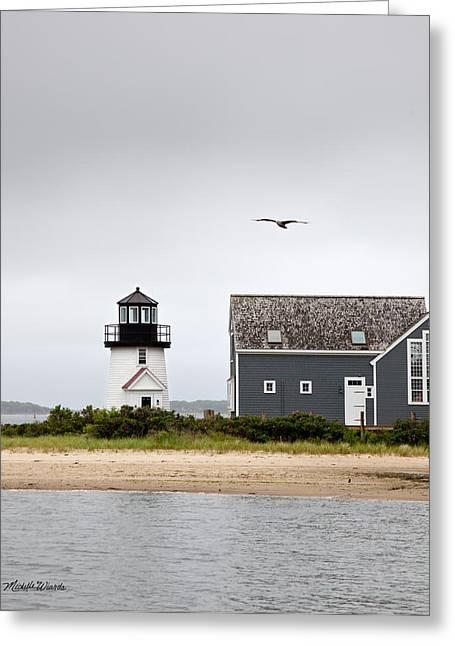 Hyannis Harbor Lighthouse Cape Cod Massachusetts Greeting Card