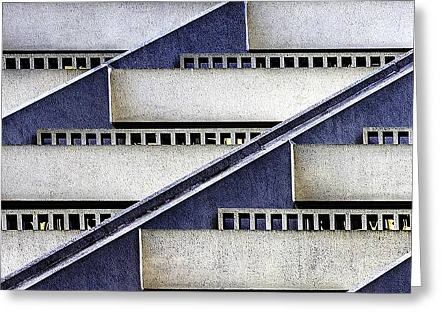 Hyatt Abstract Greeting Card by Bill Gallagher