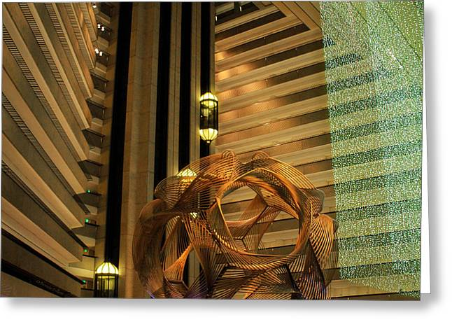 Hyatt Regency Sf Atrium Greeting Card