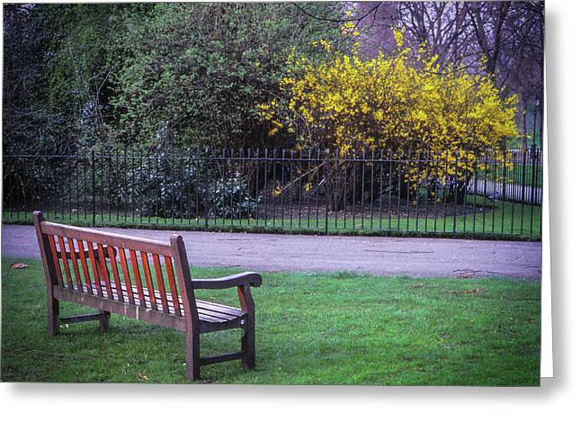 Hyde Park Bench - London Greeting Card