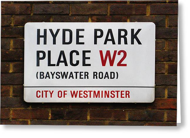Hyde Park Place Greeting Card