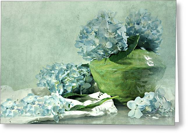 Hydra Blues Greeting Card by Diana Angstadt
