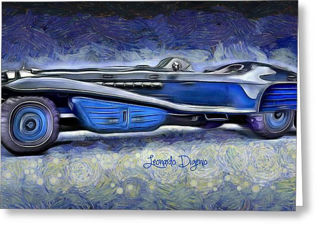 Hydra Schmidt Coupe Greeting Card by Leonardo Digenio