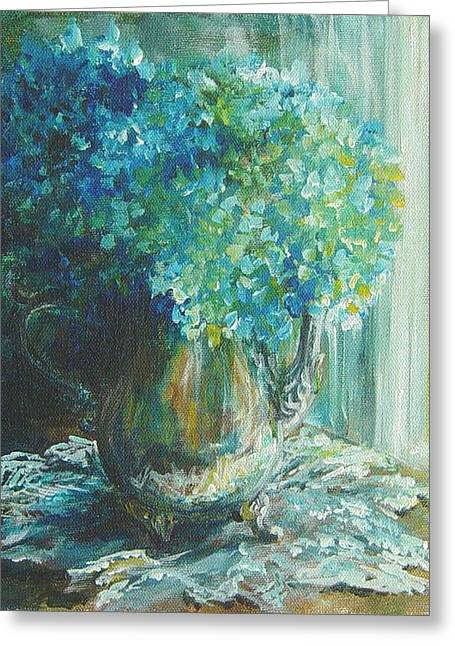 Hydrangea Sold Greeting Card by Gloria Turner