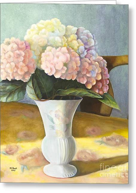 Hydrangeas Greeting Card by Marlene Book