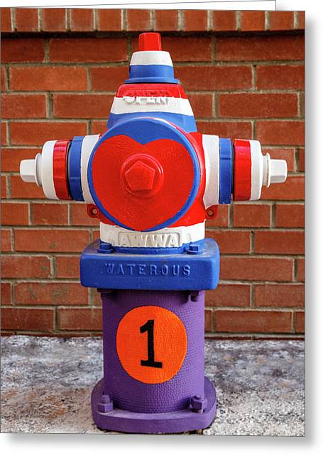 Greeting Card featuring the photograph Hydrant Number One by James Eddy