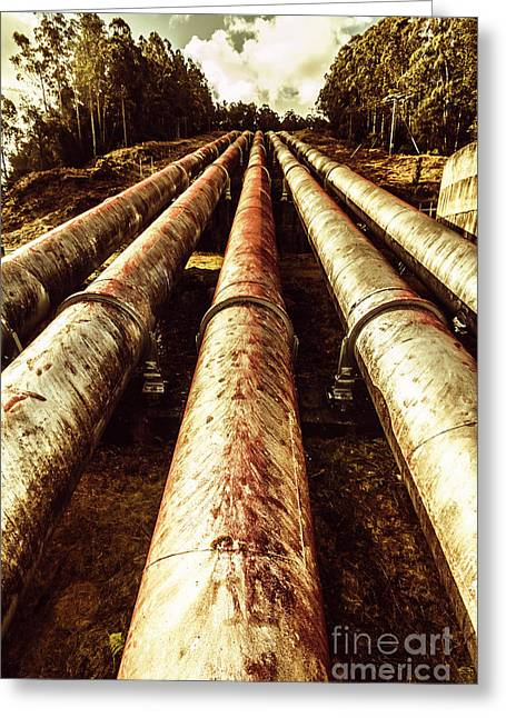 Hydroelectric Pipeline Greeting Card