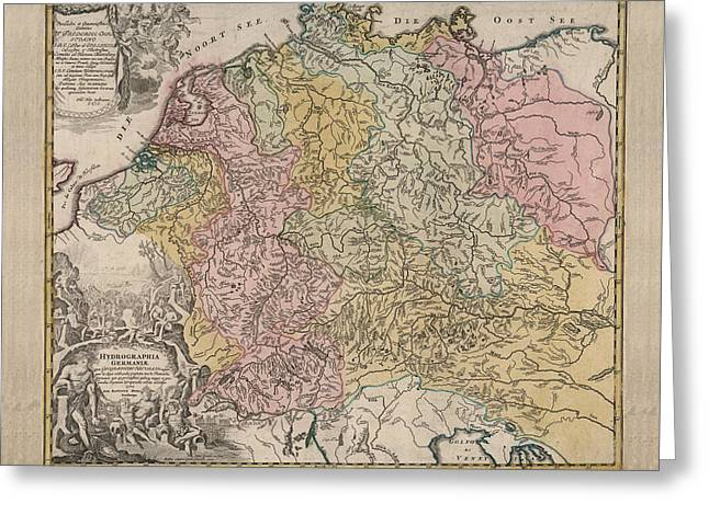 Germany Map Greeting Cards Page 4 of 24 Fine Art America
