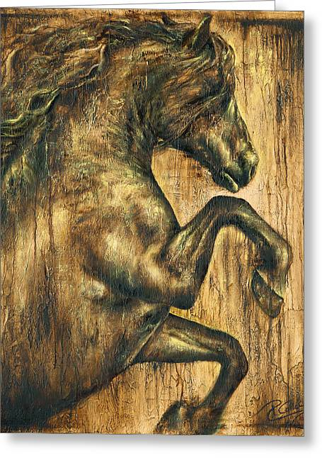 Hymne Greeting Card by Paula Collewijn -  The Art of Horses