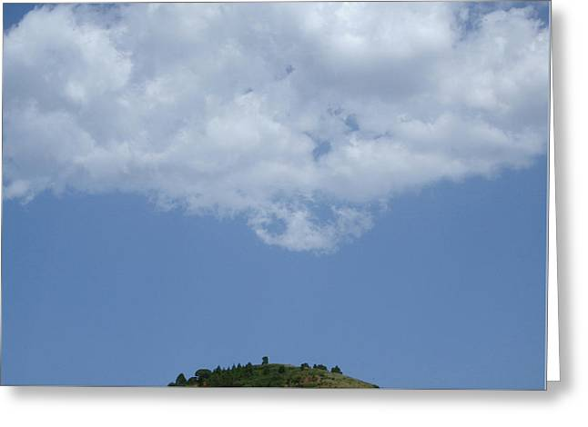 Hyperion - Lonely Cloud On Blue Sky Greeting Card