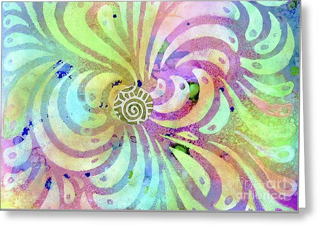Hypnotic Greeting Card by Desiree Paquette