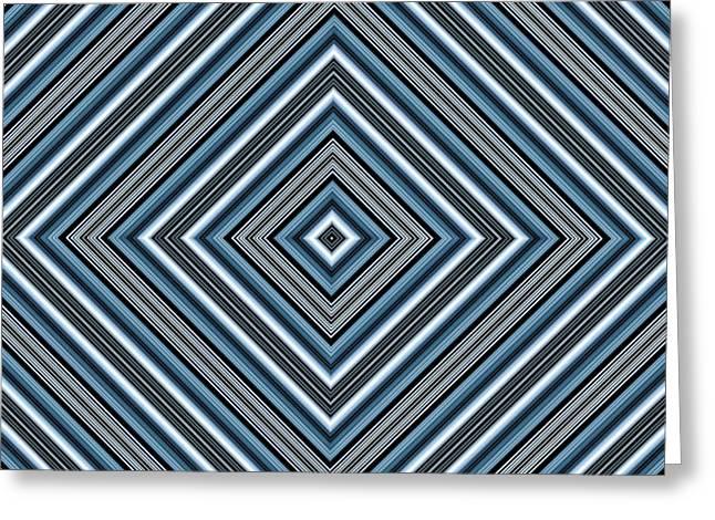 Hypnotic Magic Colorfull Geometric Shapes Greeting Card