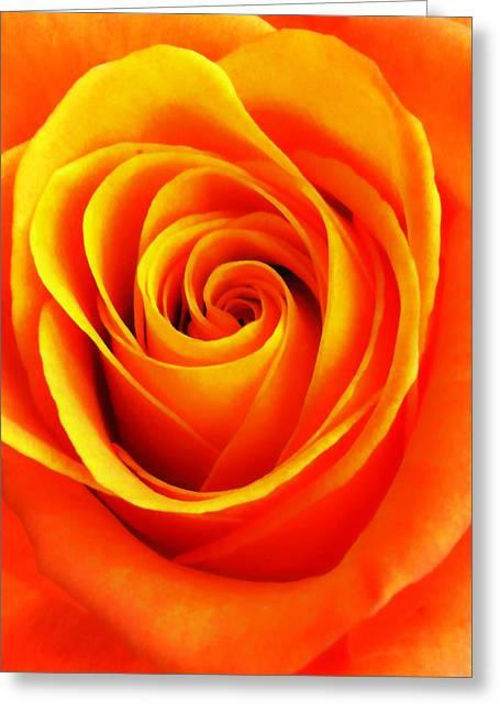 Hypnotic Orange Greeting Card