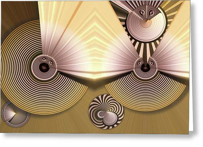 Hypnotic Greeting Card by Ron Bissett