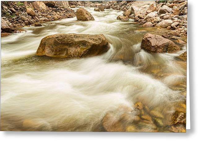 Hypnotized By A Rocky Mountain Stream Greeting Card