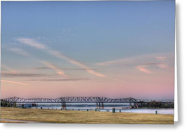 I-55 Bridge Over The Mississippi Greeting Card