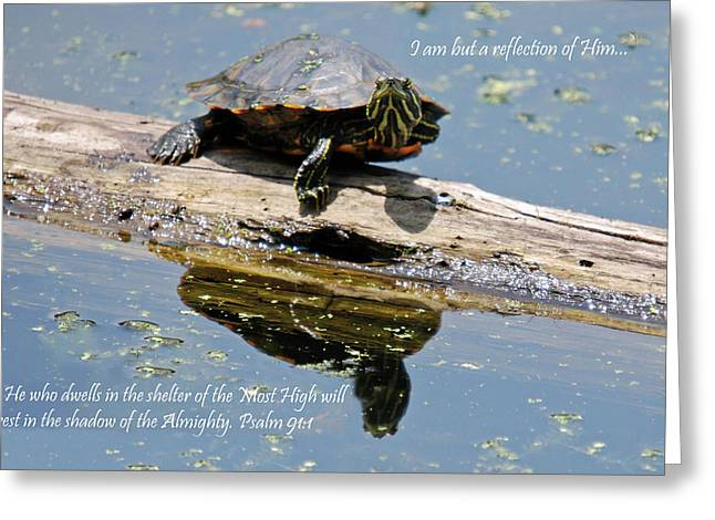 I Am But A Reflection Greeting Card by Teresa Blanton