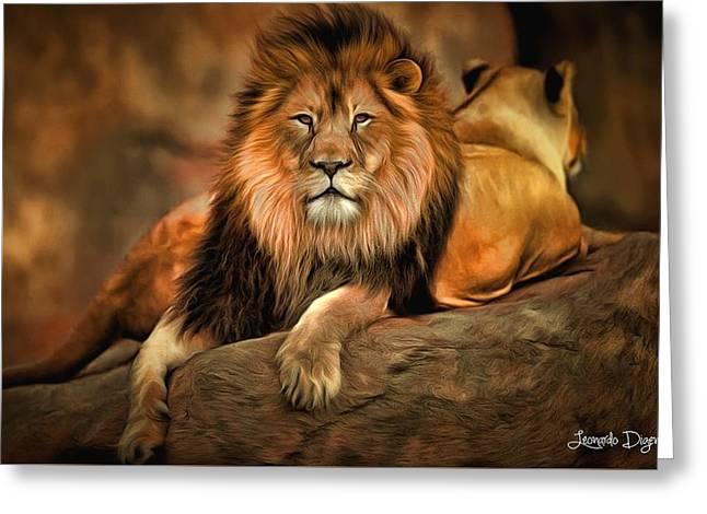 I Am Cecil - Da Greeting Card by Leonardo Digenio