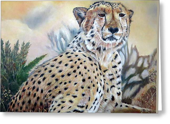 I Am Cheetah 2 Greeting Card by Marilyn  McNish