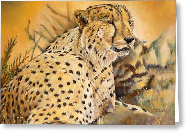 I Am Cheetah Greeting Card by Marilyn  McNish