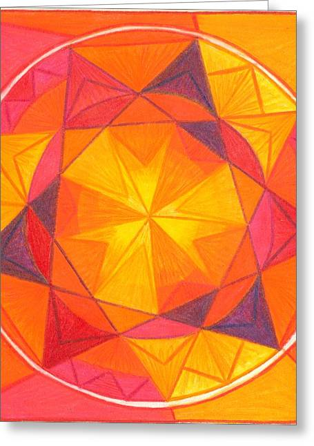 I Am Courageous Greeting Card by Ulla Mentzel