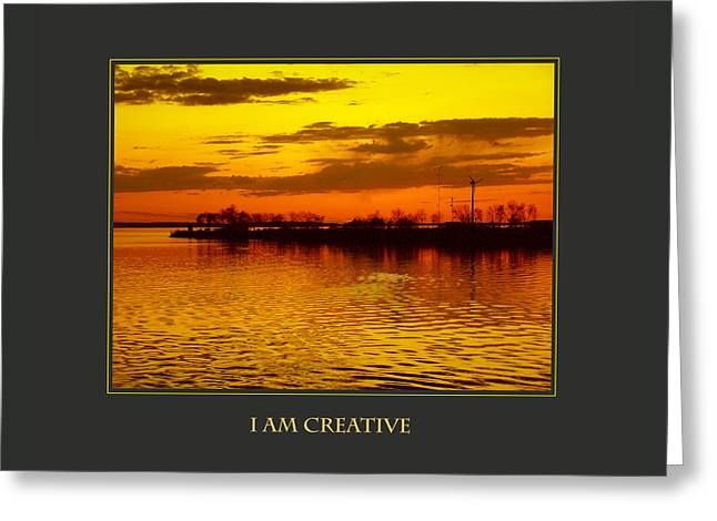I Am Creative Greeting Card by Donna Corless