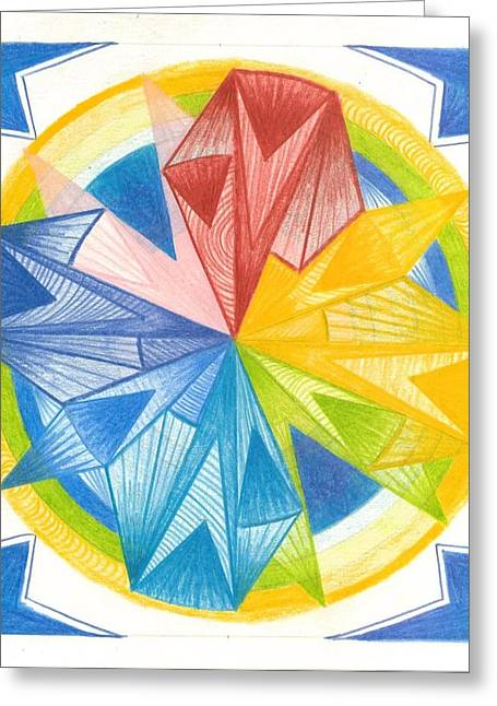 Geometric Design Pastels Greeting Cards - I Am Forgiveness Greeting Card by Ulla Mentzel