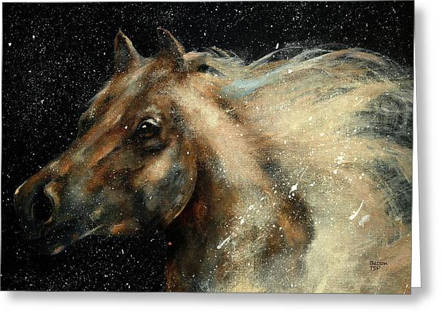 I Am In The Stars And In Your Heart Greeting Card by Barbie Batson