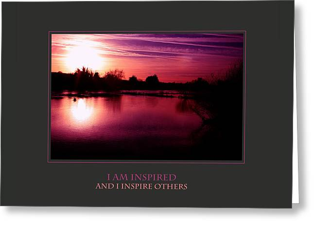 I Am Inspired And I Inspire Others Greeting Card by Donna Corless