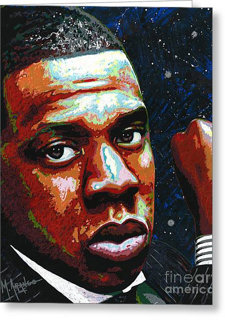 I Am Jay Z Greeting Card by Maria Arango