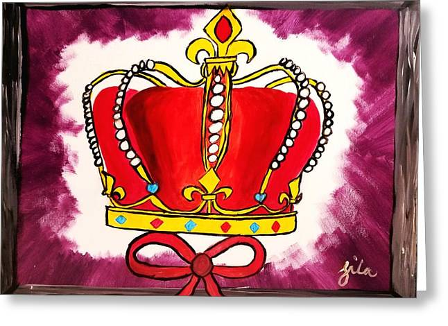 I Am King  Greeting Card