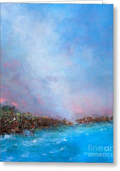 Out Of The Blue Greeting Card by Korrine Holt