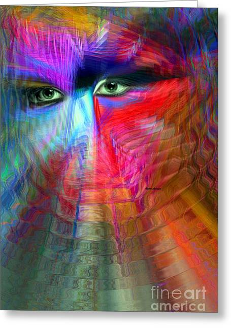 I Am Right Here For You Greeting Card by Rafael Salazar