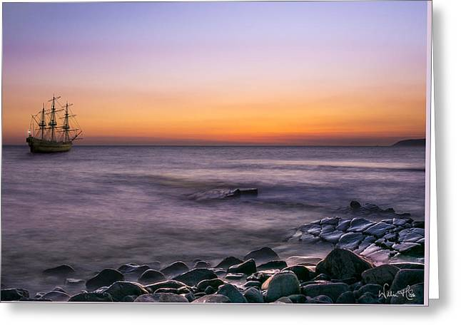 I Am Sailing Greeting Card by William Hole